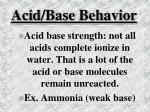 acid base behavior34