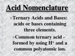 acid nomenclature21