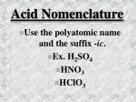 acid nomenclature22