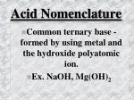 acid nomenclature26