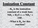 ionization constant49