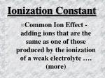 ionization constant51