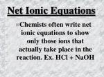 net ionic equations41