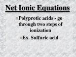 net ionic equations42