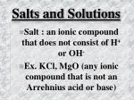 salts and solutions