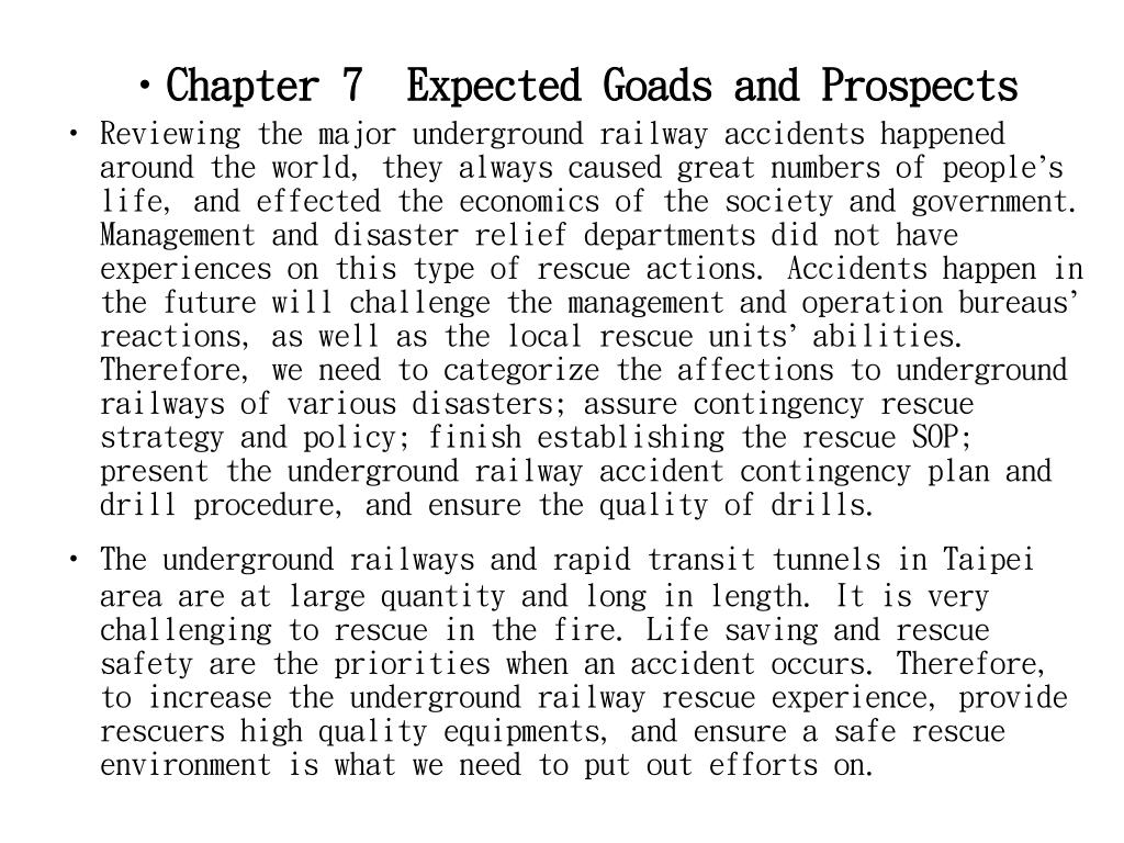 Chapter 7  Expected Goads and Prospects