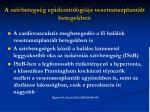 a sz vbetegs g epidemiol gi ja vesetranszplant lt betegekben
