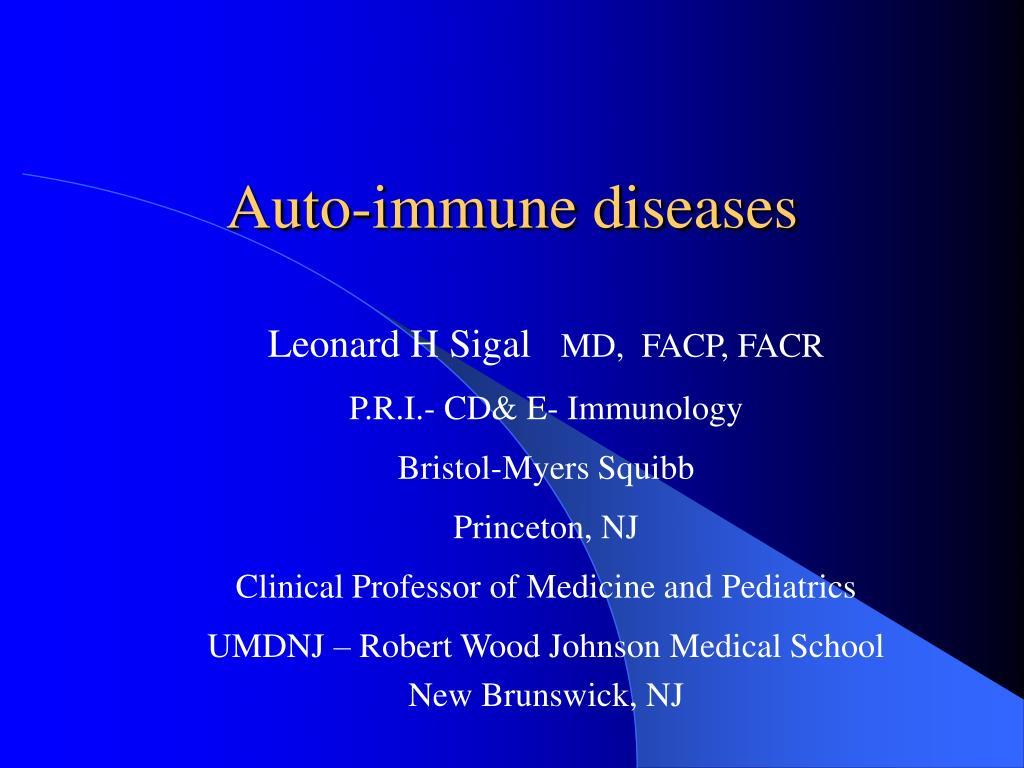 auto immune diseases l.