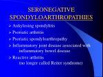 seronegative spondyloarthropathies