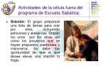 actividades de la c lula fuera del programa de escuela sab tica26