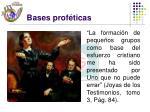 bases prof ticas