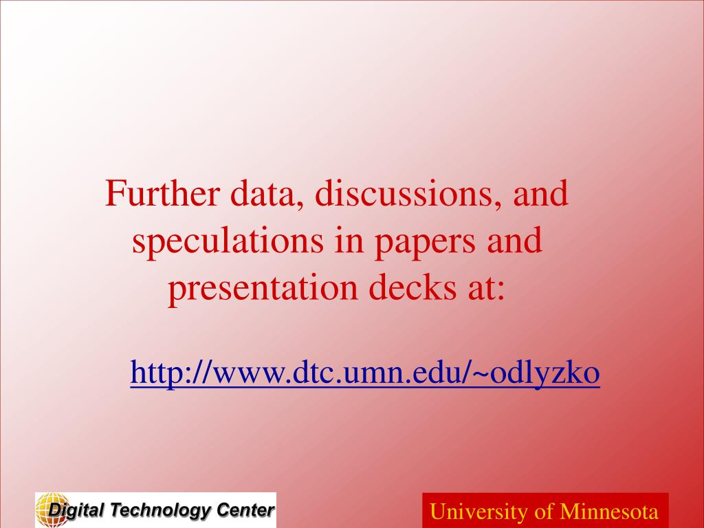 Further data, discussions, and speculations in papers and presentation decks at: