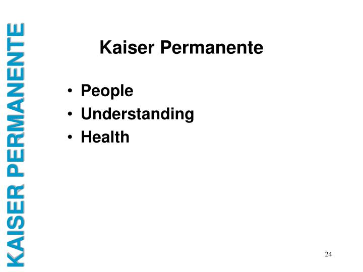 Ppt Introduction To Kaiser Permanente Powerpoint