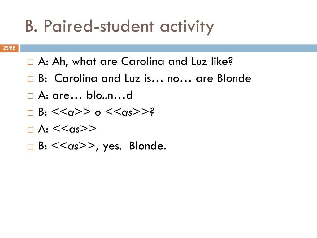 B. Paired-student activity