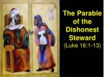 the parable of the dishonest steward luke 16 1 13