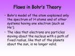 flaws in bohr s theory