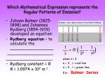 which mathematical expression represents the regular patterns of emission