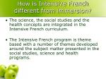 how is intensive french different from immersion