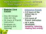 how is intensive french different from regular core french