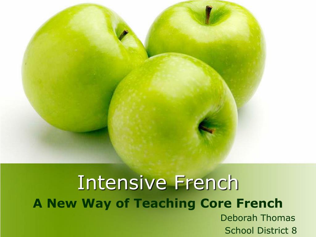 intensive french l.
