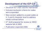 development of the icf cy