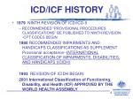 icd icf history