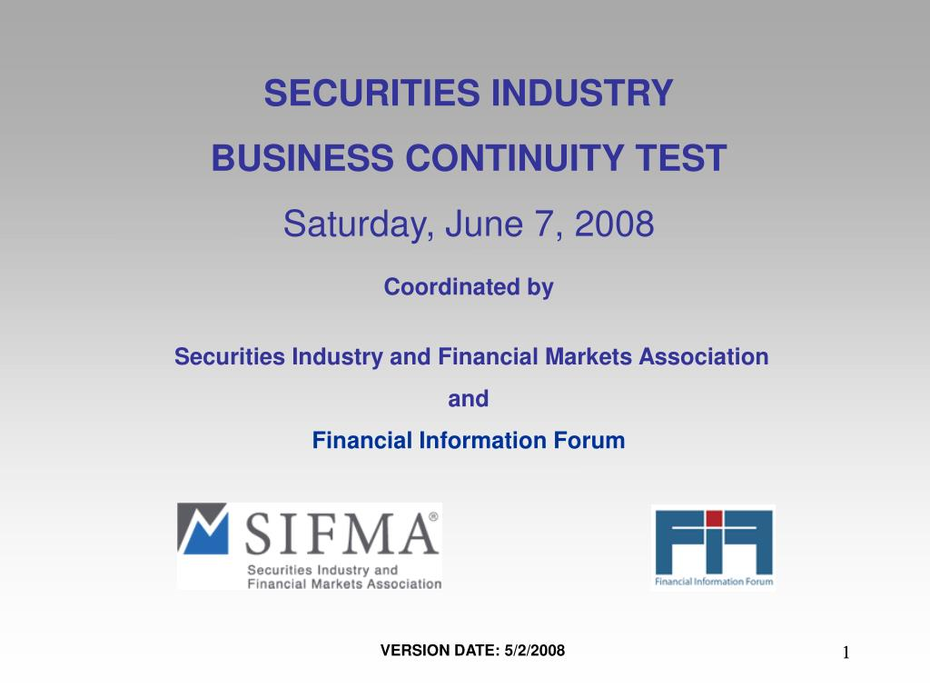 SECURITIES INDUSTRY