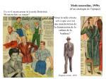 mode masculine 1950s d un catalogue de l poque