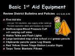 basic 1 st aid equipment