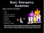 basic emergency guidelines