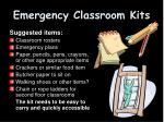emergency classroom kits