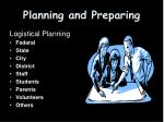 planning and preparing
