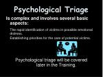 psychological triage