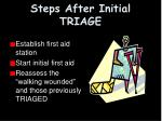 steps after initial triage