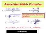 associated matrix formulas