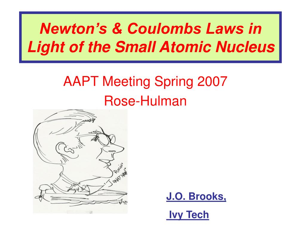 newton s coulombs laws in light of the small atomic nucleus l.