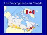 les francophones au canada
