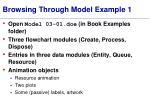 browsing through model e xample 1