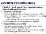 connecting flowchart modules
