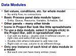 data modules