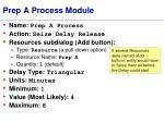 prep a process module