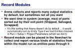 record modules