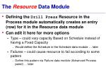 the resource data module