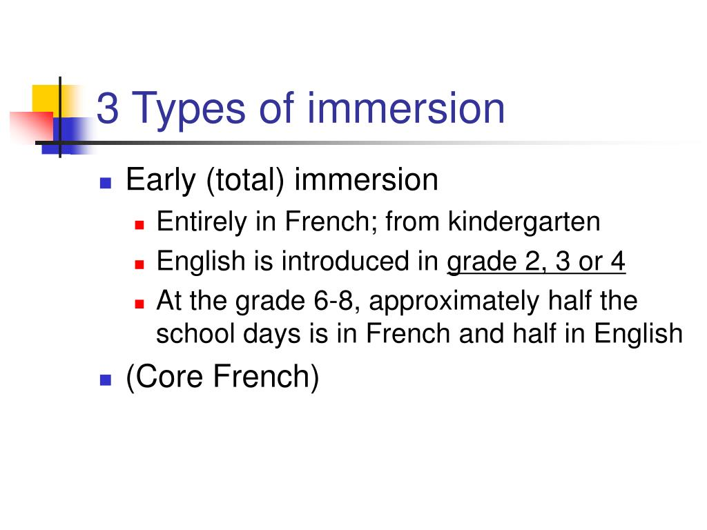 3 Types of immersion