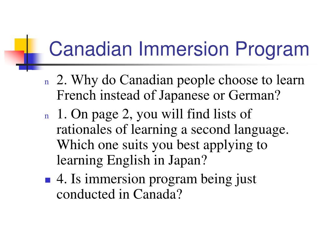 Canadian Immersion Program