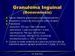 granuloma inguinal donovanosis