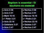baptism is essential el bautismo es esencial