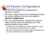 6 8 electron configurations