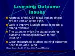 learning outcome issues