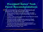 president gates task force recommendations